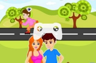 Roadside Fun Kiss Girsa (флеш игра)