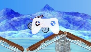 Bike Mania On Ice (флеш игра)