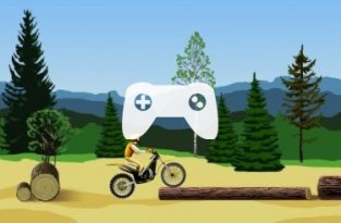 Stunt Dirt Bike (флеш игра)