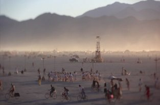 A Burning Man for Ants (titl-shift, time-lapse)